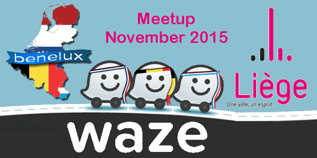 waze benelux meetup in li ge 7 november 2015 waze belgium. Black Bedroom Furniture Sets. Home Design Ideas