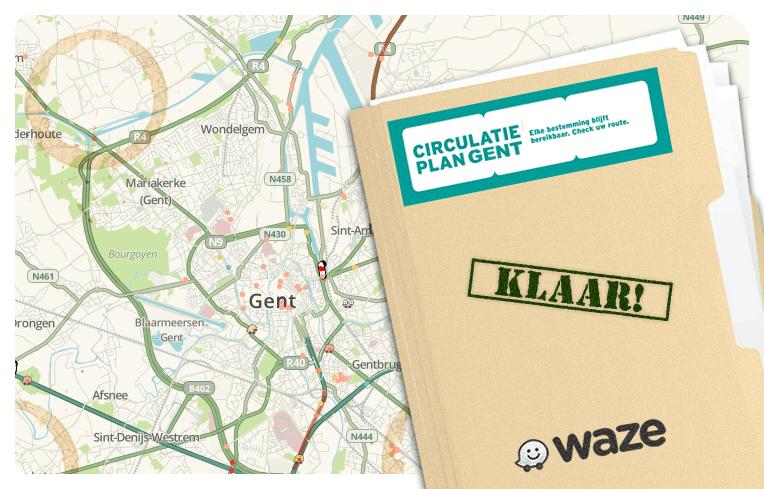 Waze is klaar voor het Circulatieplan van Gent